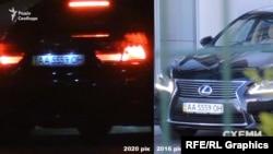 Авто, на якому жінка, схожа на дружину Хомутинніка, поїхала з аеропорту, вже фігурувало в матеріалах журналістів у 2016-му