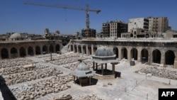 Так выглядела мечеть Омейядов в Алеппо в августе 2018 г.