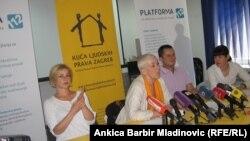 Sa press konferencije udruga, 17. srpanj 2013.