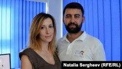 Nicolae Mocanu cu soția sa Marina