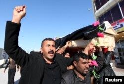 Iraq -- Похорон бійця іракської армії, що загинув у боях за Рамаді, 28 грудня 2015 року