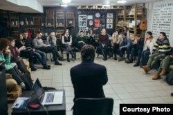 La întîlnirea cu tinerii de la Tiraspol