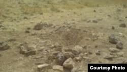 نمایی از یک محل اجرای سنگسار در ایران