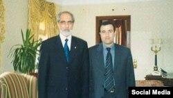 Azərbaycanın keçmiş prezident Əbülfəz Elçibəy və Oqtay Qasımov, Ankara, 2000