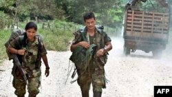 Боевики леворадикальной группировки FARC, Колумбия.