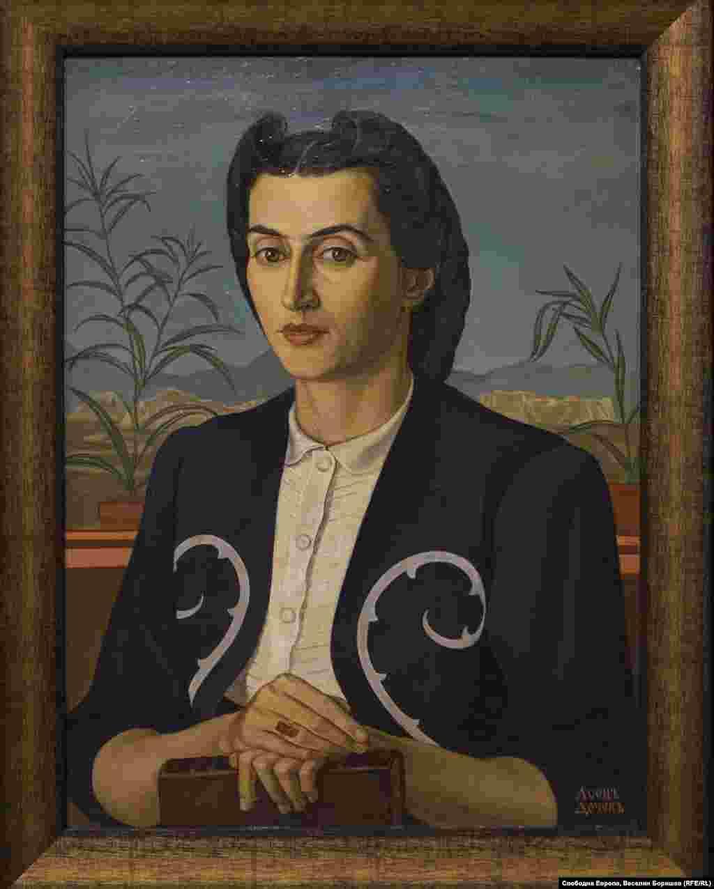 """Асен Дочев, """"Портрет на жена ми"""". През 1937 г. жените майки от законен брак вече могат да гласуват в местни избори. Все още обаче не могат да бъдат избирани."""