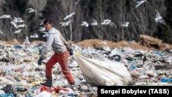 """Одна из подмосковных свалок – полигон твердых бытовых отходов """"Ядрово"""""""