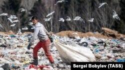 """Полигон твердых бытовых отходов """"Ядрово"""" в Подмосковье"""