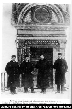 Лидеры Курултая. Слева направо: Сеитджелиль Хаттатов, Асан-Сабри Айвазов, Номан Челебиджихан, Джафер Сейдамет. Архив автора