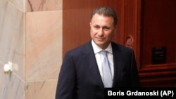 Former Macedonian Prime Minister Nikola Gruevski (file photo)