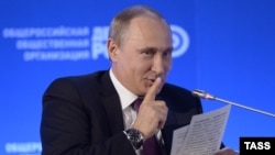 Президент России Владимир Путин. Москва, 26 мая 2015 года.