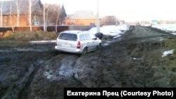 Дорога в Омское село Полтавка