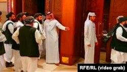Катарские дипломаты и представители талибов на переговорах в Дохе. Весна 2019 года
