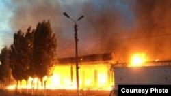 Пожар в Ахангаранском районе Ташкентской области. Иллюстративное фото.