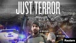 2015 жылы 13 қарашада Парижде шабуыл жасаған тоғыз адамның суреті басылған ИМ террорлық тобының «Дабиқ» (Dabiq) журналы.