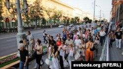 Pamje nga protesta në Bjellorusi
