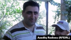 Azerbaijani military officer and confessed killer Ramil Safarov after his return to Baku on August 31.