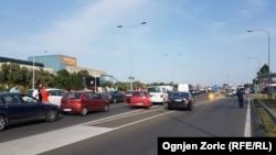 Белград- блокади на улиците поради високите цени на горивата, 08.06.2018