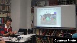 Юто Токиода татар теле курсларында чыгыш ясый