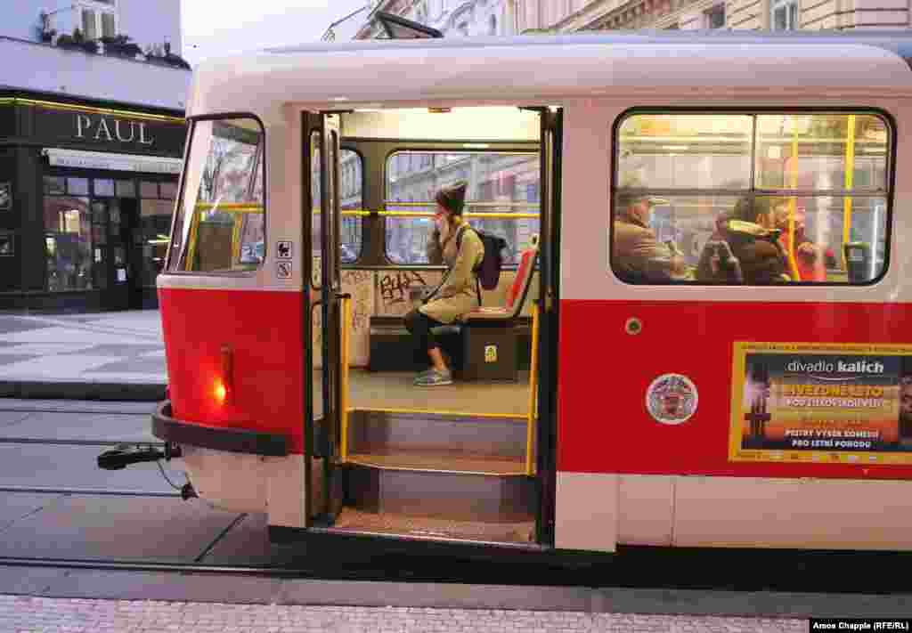 Czechia -- Photos of Prague transport and during quarantine as the coronavirus pandemic sweeps Europe