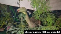 Ukraine, Crimea, Alushta - Exhibition of Dinosaurs