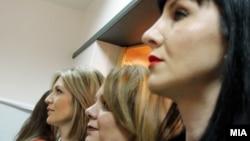 Прес-конференција во Специјалното јавно обвинителство. Обвинителките Катица Јанева, Ленче Ристевска и Фатиме Фетаи.