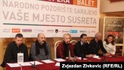 Sa konferencije za novinare Narodnog pozorišta Sarajevo, foto: Zvjezdan Živković