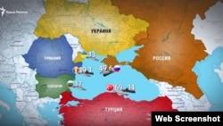 Количество боевых единиц флота основных стран-игроков в Черноморском бассейне