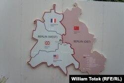 Hartă a împărțirii postbelice a Berlinului