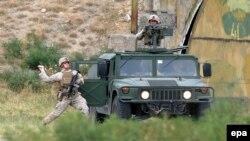 Gürcüstanda NATO təlimi. ABŞ əsgərləri (Arxiv)