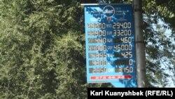Теңгенің шетел валюталарына бағамы. Алматы, 16 қыркүйек 2015 жыл.