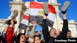 محتجون مصريون