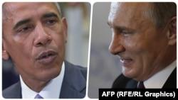 Барак Обама (слева) и Владимир Путин