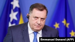 Bosnian-Serb leader Milorad Dodik is well-known for his hostility toward some members of the media. (file photo)