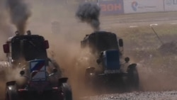 Turbocharged Tractors Plow Through A Russian Racetrack