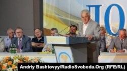 Спікер Володимир Литвин на з'їзді Народної партії, Київ, 31 липня 2012 року