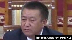 Чыныбай Турсунбеков, спикер парламента Кыргызстана.