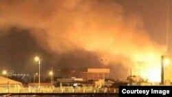 Горящий порт Адена. 7 апреля 2015 года