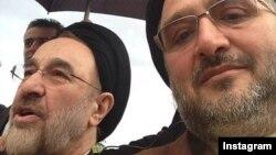 Iran -- A selfie of former President Mohammad Khatami