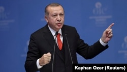 Turkish President Recep Tayyip Erdogan (file photo)