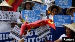 Кытайга каршы Филиппиндеги нааразылык. 19-февраль, 2016-жыл.