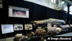 İranın hazırladığı ballistik raket Vaşinqtonda hərbi bazada göstərilir