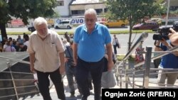 Lider Srpske radikalne stranke, narodni poslanik i haški osuđenik Vojislav Šešelj, prilikom dolaska u zgradu Višeg suda u Beogradu
