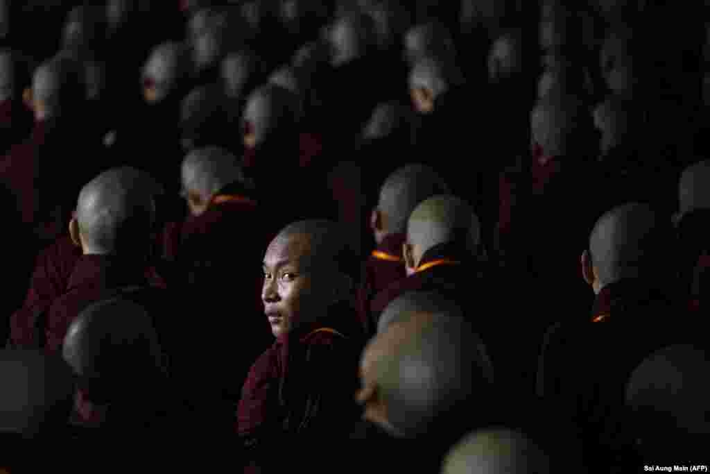 Buddhist monks attend the annual meeting of the ultranationalist group Buddha Dhamma Parahita Foundation in Yangon, Burma. (AFP/Sai Aung Main)
