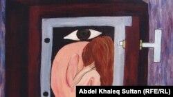 احدى لوحات الفنانة رشا محمد