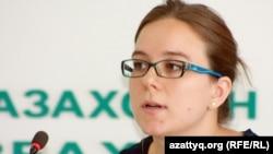 Мира Ритман, исследователь по Центральной Азии Human Rights Watch. Алматы, 10 сентября 2012 года.
