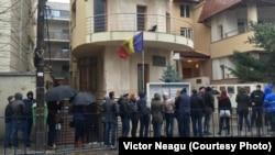Alegători la consulatul R.Moldova de la București