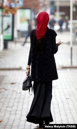 Девушка в Грозном