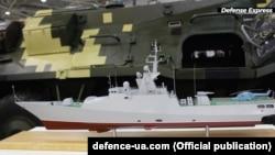 Модель корвета проєкту 58250 класу «Володимир Великий»