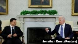 Американскиот претседател Џо Бајден и украинскиот претседател Володимир Зеленски, Вашингтон, 01 септември 2021 година